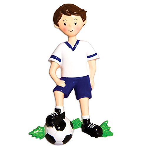 Sports Boy SOCCER Player Personalized Christmas Tree Ornament