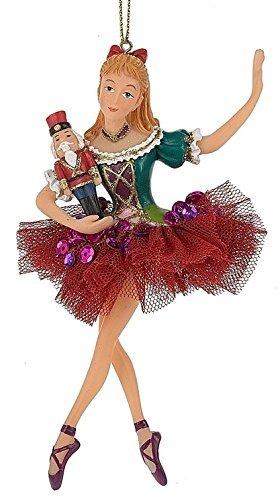 Midwest Seasons Clara Nutcracker Ballet Shoes Doll Christmas Tree Ornament