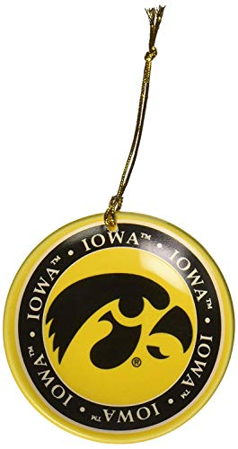 NCAA Iowa Hawkeyes Ceramic Plate Ornament