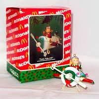 "Enesco, McDonalds ""Tasty Take-Off"", Plane & Elf Pilot Christmas Ornament"