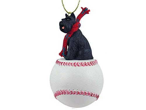 Conversation Concepts Schnauzer Black Baseball Ornament