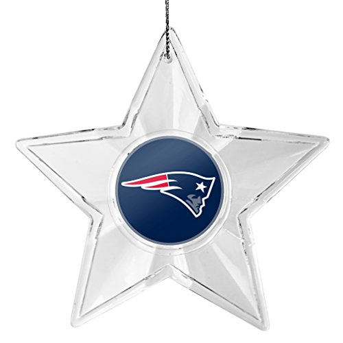 NFL New England Patriots Traditional Acrylic Star Ornament