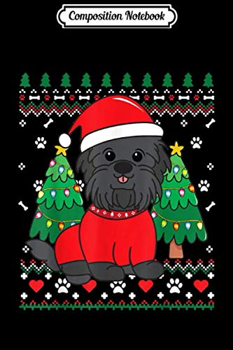 Composition Notebook: Affenpinscher Christmas Ornament Ugly Gift Dog Mom Dad Gift Journal/Notebook Blank Lined Ruled 6×9 100 Pages