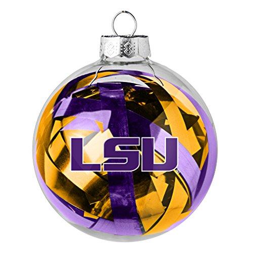 NCAA LSU Tigers Large Tinsel Ball Ornament