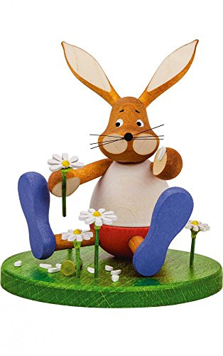 Alexander Taron 224-293 Dregeno Easter Figure – Rabbit with Basket – 7″ H x 5″ W x 3'D, Brown