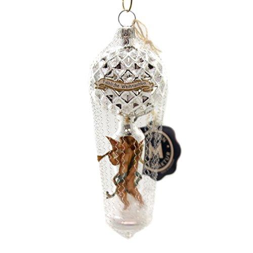 Marolin Paper Angel Waffle Balloon Glass Ornament Germany Viktorian 6000500