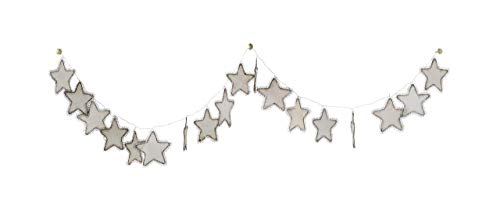 Creative Co-Op 72 Inch Metal & Fabric Star Garland (Renewed)