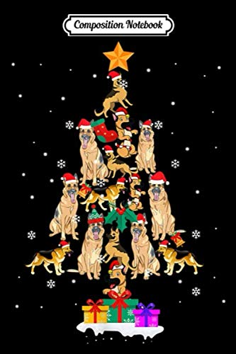 Composition Notebook: german shepherd Christmas Ornament Tree Decor Dog lover Gift  Journal/Notebook Blank Lined Ruled 6×9 100 Pages