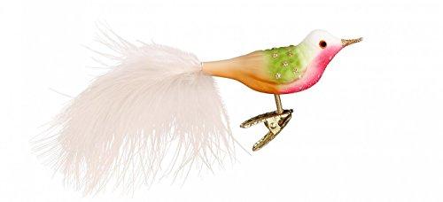 Inge Glas Bird Clip-On Penelope 1-062-17 German Blown Glass Christmas Ornament