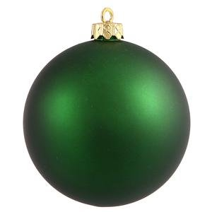 Vickerman 6″ Emerald Matte Ball Ornament 4 per Box