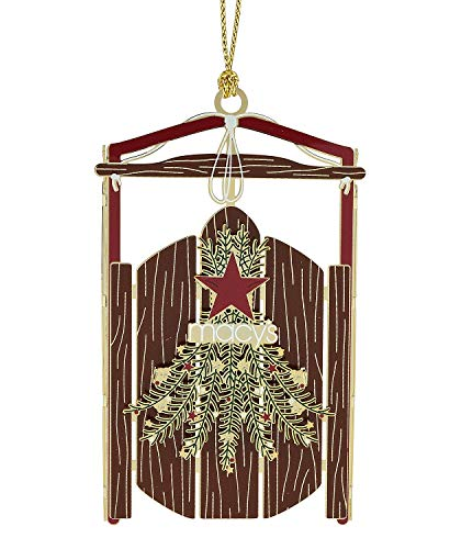 ChemArt Sled Ornament, Brown