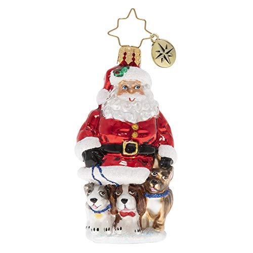 Christopher Radko Hand-Crafted European Glass Christmas Ornament, Promenading Pups Gem
