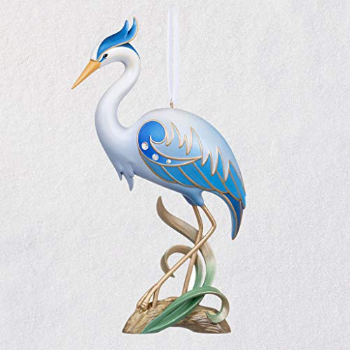 2019 Hallmark Great Blue Heron- 15th Anniversary Keepsake Ornament