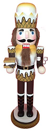 Santa's Workshop Graham Crackers,Smores Nutcracker, 14″ Tall, Tan/Brown/White