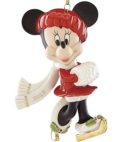 Lenox Walt Disney Winter Minnie Mouse Skate Away Minnie Ornament New in box