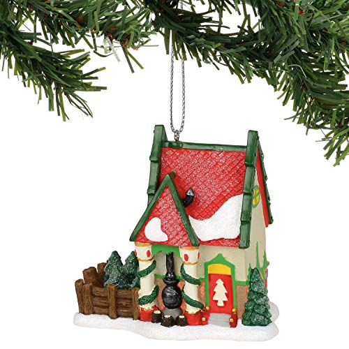 Department 56 North Pole Series Village The Fir Farm Hanging Ornament, 3.17 Inch, Multicolor