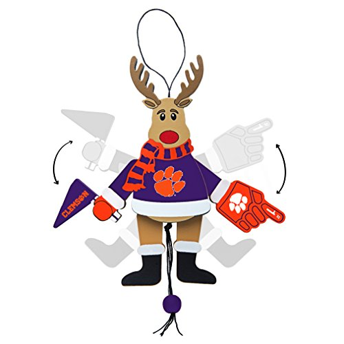 NCAA Clemson Tigers Wooden Cheer Ornament