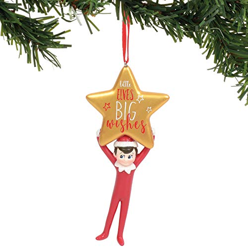 Department 56 Elf on The Shelf Little Elves Big Wishes Hanging Ornament, 4 Inch, Multicolor