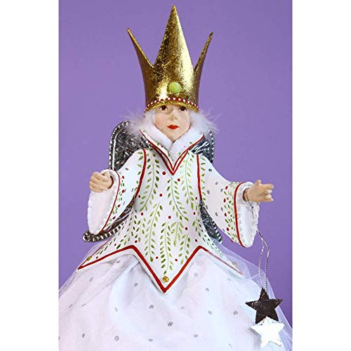 Patience Brewster Krinkles Star Fairy Tree Topper Figural Ornament #30895