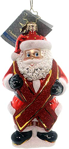 Christopher Radko Charity Claus Santa HIV Awareness Red Ribbon Glass Ornament