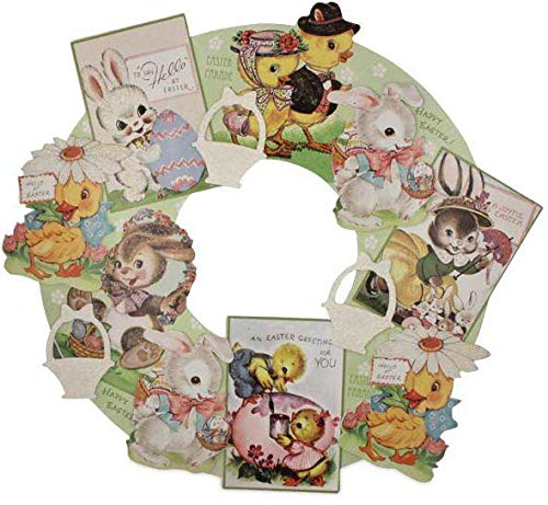 Bethany Lowe Designs Retro Style Easter Die Cut Wreath