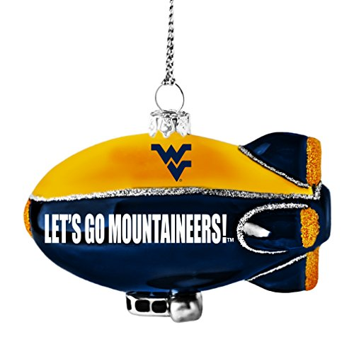 NCAA West Virginia Mountaineers Glitter Blimp Ornament