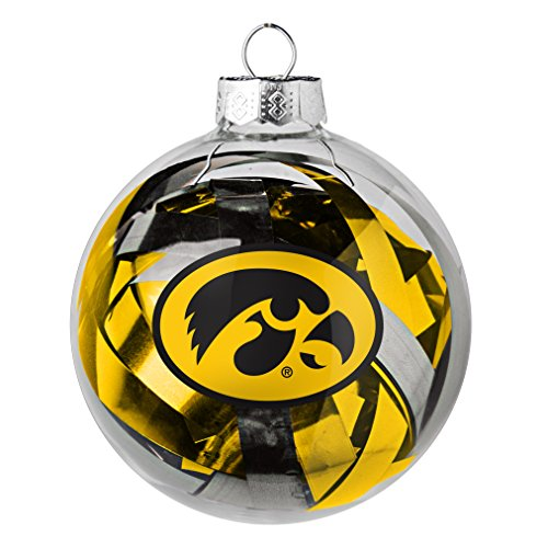 NCAA Iowa Hawkeyes Large Tinsel Ball Ornament