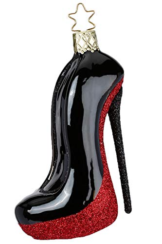 Inge-Glas Black Heel 10057S018 German Blown Glass Christmas Ornament