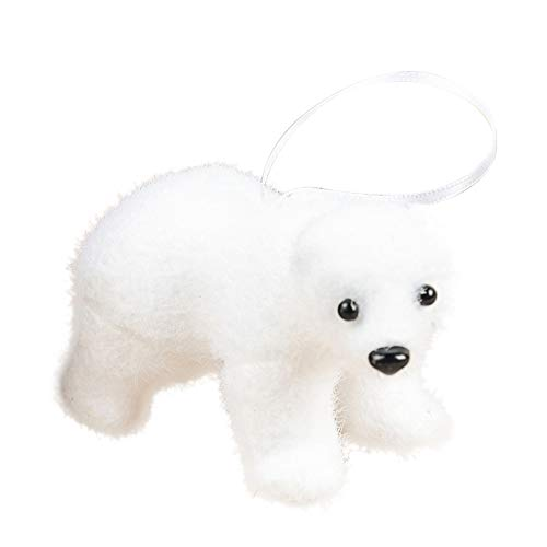 Luxsea White Polar Bear Ornaments, Hanging Christmas Decoration for Christmas Tree Decoration Festive Party Gifts
