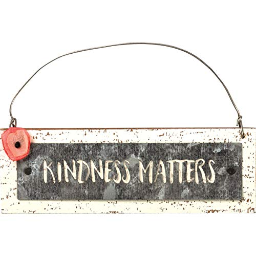 Primitives by Kathy, 101766, Kindness Matters Hanging Wooden Ornament with Wire Loop, Easter