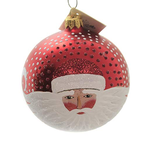 Christina's World Windswept Santa Ornament Hand Painted Ball Poland Gif37710