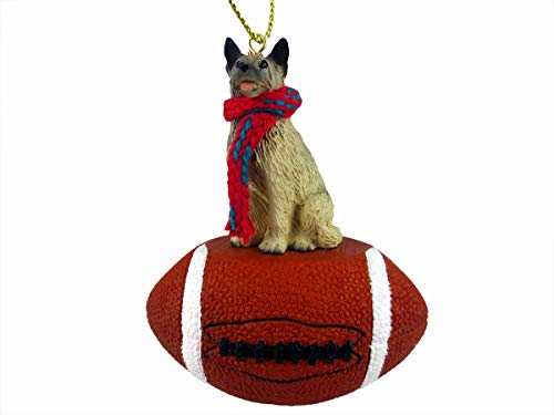 Conversation Concepts Norwegian Elkhound Football Christmas Ornament