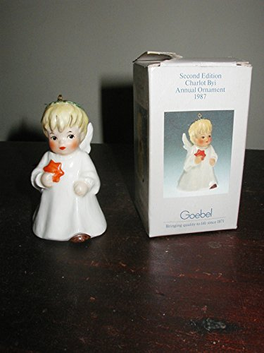 1987 GOEBEL W.Germany Angel With Star Bell Holiday Ornament