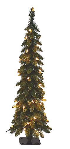Santa's Workshop 15960 Pencil Slim Tree with 70 Ul Lights, 4′ , CLEAR