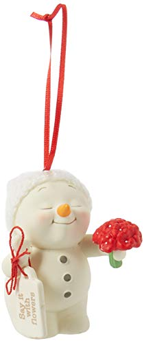 Department 56 3″ Snowpinions Say it with Flowers Hanging Ornament, Multicolor