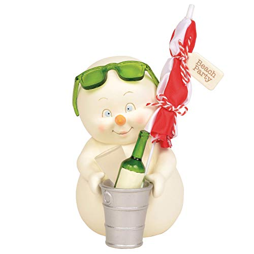 Department 56 Snowpinions Beach Party Figurine, 6 Inch, Multicolor