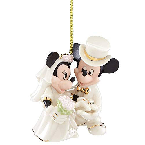 Lenox Disney Mickey and Minnie Wedding Christmas Ornament