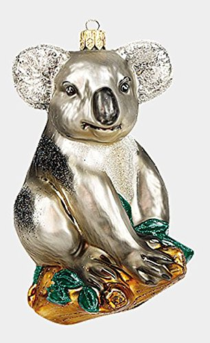 Pinnacle Peak Trading Company Koala Bear Marsupial Animal Polish Glass Christmas Ornament Decoration