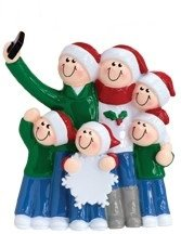 Selfie Family Christmas Ornament (Family of 6)