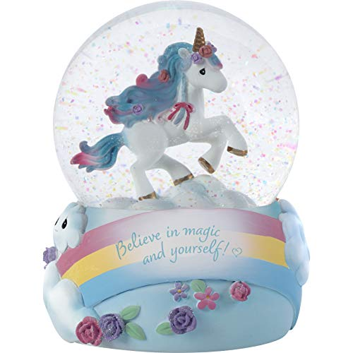 Precious Moments 193103 Believe in Magic Unicorn Musical Snow Globe WATERBALL, One Size, Multicolor