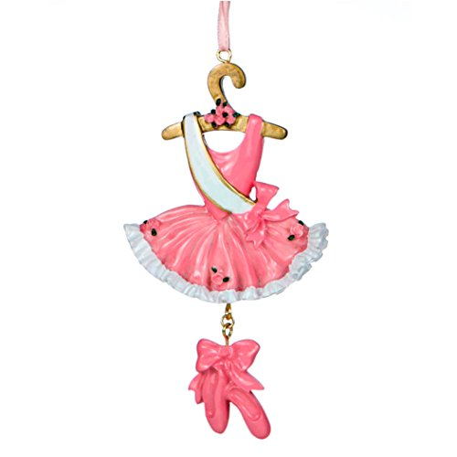 Personalized Ballet Christmas Tree Ornament 2019 – Pink Dancer Costume Dress Ruffles Hanger Shoes Dangle Tulle Skirt Leotard Performing Art Profession Girl Gift Year – Free Customization