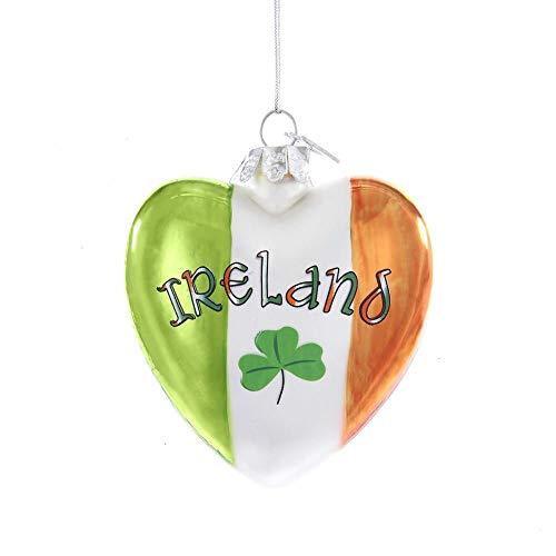 Kurt Adler Ireland Glass Heart Ornament Home Decor