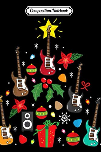 Composition Notebook: Bass Guitar Christmas Ornament Tree Funny Gift Men  Journal/Notebook Blank Lined Ruled 6×9 100 Pages