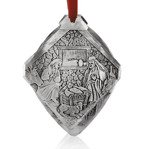 Wendell August Forge Nativity Christmas Ornament, 3.125″ x 3.5″ – Hand-Hammered Ornament Depicting Birth of Jesus in The Manger – Beautifully Detailed Tree Decoration Makes a Great Gift – Made in USA