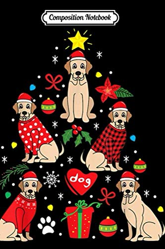 Composition Notebook: Labrador Christmas Ornament Funny Tree Dog Lab Mom Gift  Journal/Notebook Blank Lined Ruled 6×9 100 Pages
